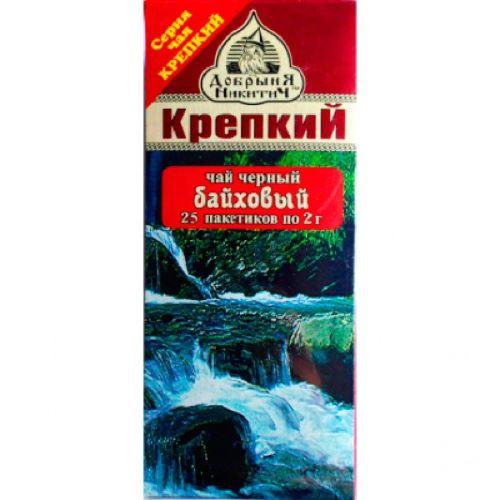 """Чай черный """"Крепкий"""" Добрыня Никитич 25*2г"""