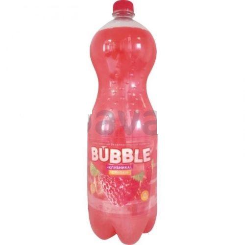 """Напиток б/а """"Bubble"""" клубника-сливки 2л."""