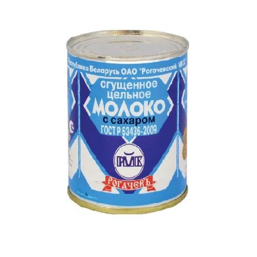 Молоко цельное сгущеное с сах. 8,5% вж/б 380 г