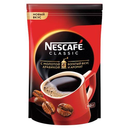 """Кофе """"Nescafe Classic"""" (раств. с мол., пакет) 150г"""