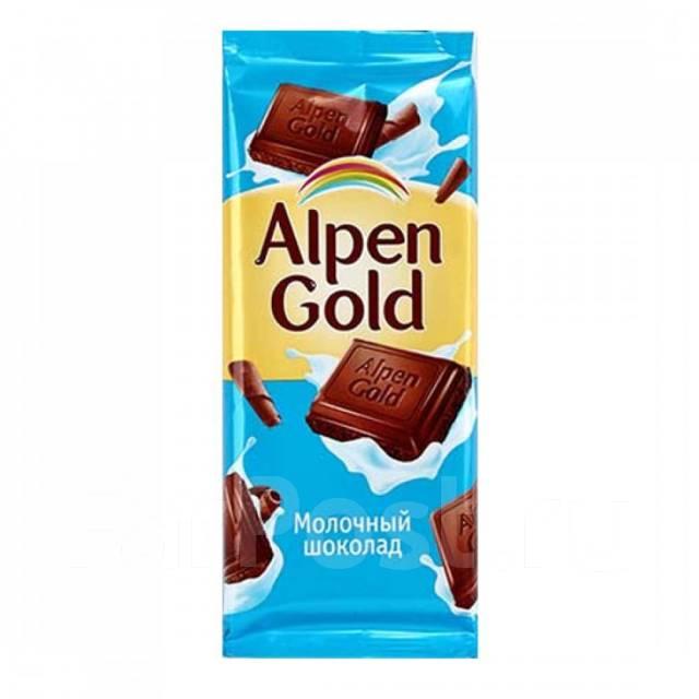 "Шоколад ""Альпен гольд"" молочный 85 г"